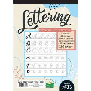 Bloco Para Educação Artística Arts Lettering A4 180G 28Fls. Jandaia