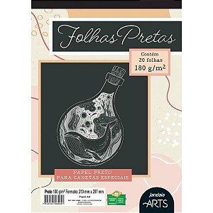 Bloco Para Educação Artística Arts Preto A4 180G. 20Fls. Jandaia