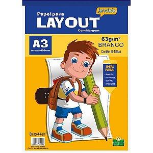 Bloco Para Educação Artística Basic Art Lay Out A3 50Fls. Jandaia