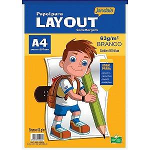 Bloco Para Educação Artística Basic Art Lay Out A4 50Fls. Jandaia