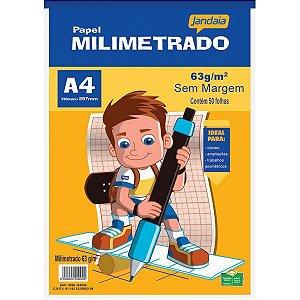 Bloco Para Educação Artística Basic Art Milimetrada A4 50Fls Jandaia