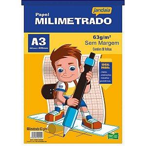 Bloco Para Educação Artística Basic Art Milimetrado A3 50Fls Jandaia