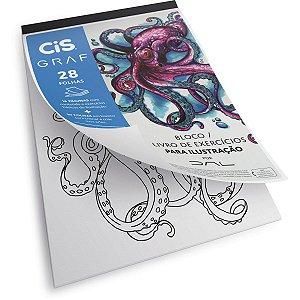 Bloco Para Educação Artística Cis Ilustração A4 180G. 28F. Sertic