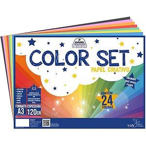 Bloco Para Educação Artística Color Set A3 120G. 24Fls. Romitec