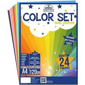 Bloco Para Educação Artística Color Set A4 120G. 24Fls. Romitec