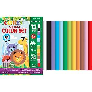 Bloco Para Educação Artística Color Set A4 12Cor.24Fl Novaprint