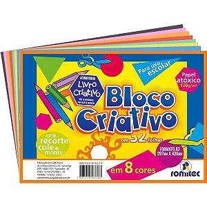 Bloco Para Educação Artística Criativo A3 120G 8Cores 32Fls. Romitec