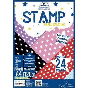 Bloco Para Educação Artística Criativo Stamp A4 120G 24Fls Romitec