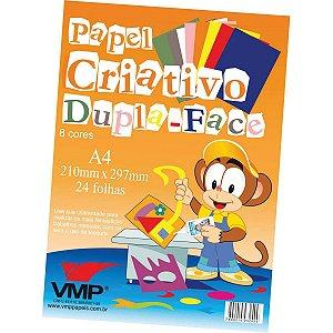 Bloco Para Educação Artística Dupla Face A4 C/8 24F 120G V.m.p.