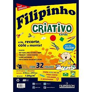 Bloco Para Educação Artística Filipin.criat.8Cor.a4.120G.32F Filiperson