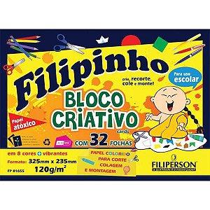 Bloco Para Educação Artística Filipinho 8Cor.325X235 120G 32 Filiperson