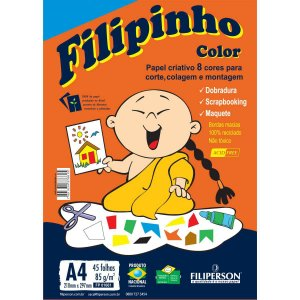 Bloco Para Educação Artística Filipinho Color A4 85G.45Fls Filiperson