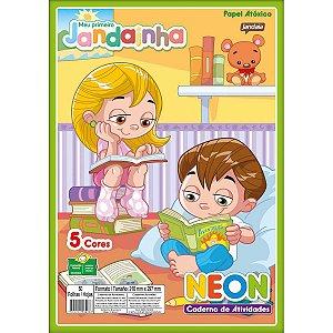 Bloco Para Educação Artística Jandainha Color Neon A4 50F 75 Jandaia