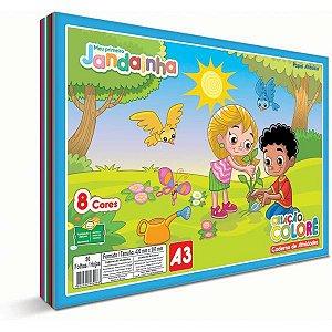 Bloco Para Educação Artística Jandainha Colore A3 32Fls.75G Jandaia