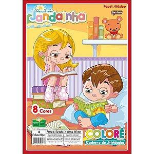 Bloco Para Educação Artística Jandainha Colore A4 48Fls.75G Jandaia