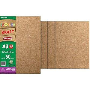 Bloco Para Educação Artística Kraft 100G A3 50Fls Novaprint