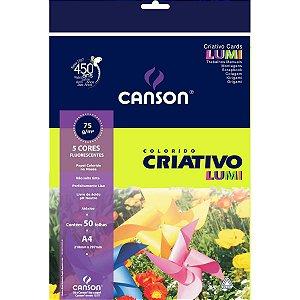 Bloco Para Educação Artística Lumi A4 80G 50Fls 5Cores Fila Canson