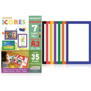 Bloco Para Educação Artística Moldura A3 7Cor.110G 35F.29X42 Novaprint