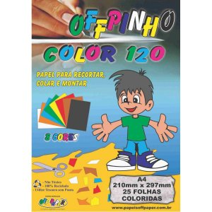 Bloco Para Educação Artística Offpinho Color A4 120G 25Fls. Off Paper