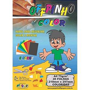 Bloco Para Educação Artística Offpinho Color A4 75G 45Fls. Off Paper