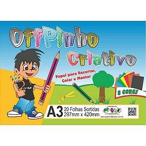 Bloco Para Educação Artística Offpinho Criativo A3 120G 20Fl Off Paper