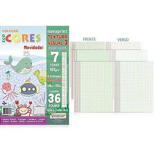 Bloco Para Educação Artística Textura 3 Dec.180G 36F 32X23Cm Novaprint