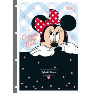 Bloco Para Fichario Universit. Minnie Decorado 80F. Tilibra