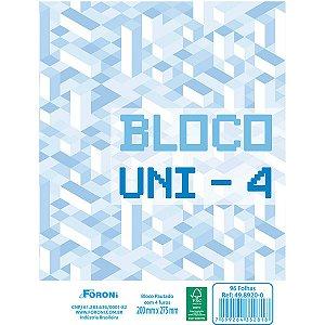 Bloco Para Fichario Universit. Uni-4 Branco 96F 200X275Mm Foroni