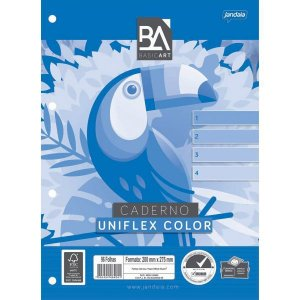 Bloco Para Fichario Universit. Uniflex Color 96Fls. Jandaia