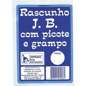 Bloco Para Rascunho Sulfite 80X110Mm C/100 Fls. Tamoio