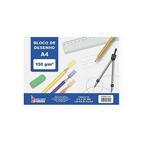 Bloco Tecnico Sem Margem Desenho A4 150G.20Fls.branco Tamoio