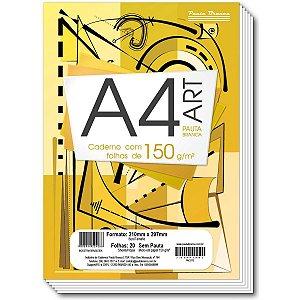 Bloco Tecnico Sem Margem Desenho A4 Art Pb 20F.br 150G Pauta Branca