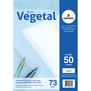 Bloco Tecnico Sem Margem Vegetal A-3 73G.50Fls Romitec/plastpark