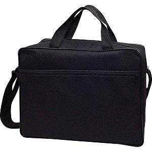 Bolsa Carteiro Nylon Preta C/alca 37X25X9Cm Reflex