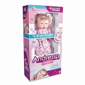 Boneca Com Mecanismo Andressa Frases 42Cm. Milk