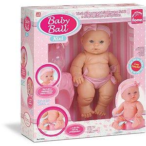 Boneca Com Mecanismo Baby Ball Xixi Vinil 22Cm. Roma