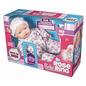 Boneca Com Mecanismo Bebê Rose Ring 38Cm Sons De Bb Milk
