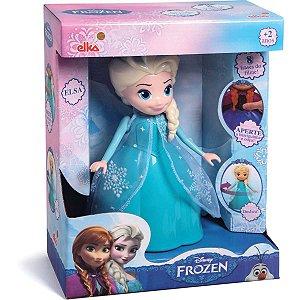 Boneca Com Mecanismo Frozen Elsa 8 Frases 24Cm. Elka