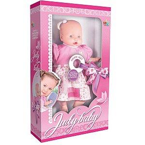 Boneca Com Mecanismo Judy Baby Frases 48Cm. Milk