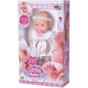 Boneca Com Mecanismo Little Baby Primeira Oracao Milk