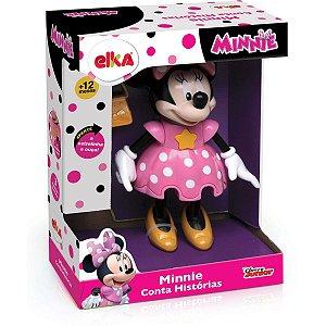 Boneca Com Mecanismo Minnie Conta Histórias 25Cm. Elka