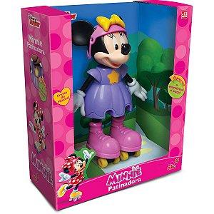 Boneca Com Mecanismo Minnie Patinadora 25Cm. Elka