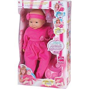 Boneca Com Mecanismo New Bebê Mania Xixi 54Cm. Roma