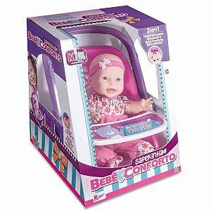 Boneca Sapekinha Bebê Conforto 33Cm Milk
