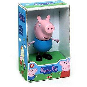 Boneco E Personagem George Peppa Pig Vinil 13Cm. Elka