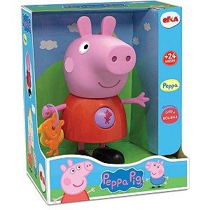 Boneco E Personagem Peppa Pig Atividades 24Cm. Elka