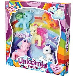 Boneco E Personagem Unicornio Familia Vinil 7,5Cm Apolo