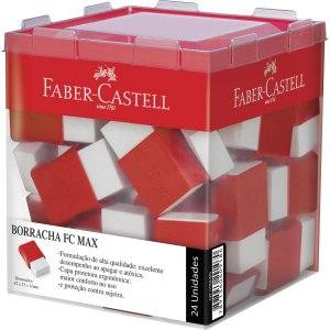 Borracha Branca Fc Max Pequena Plástica Vermel Faber-Castell