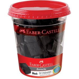 Borracha Colorida Fc Max Black Faber-Castell