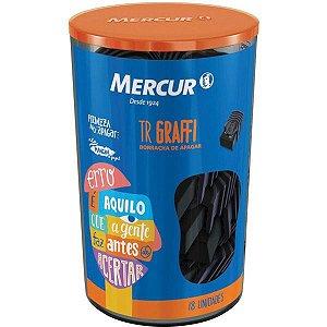Borracha Colorida Tr Graffi Preta C/capa Mercur
